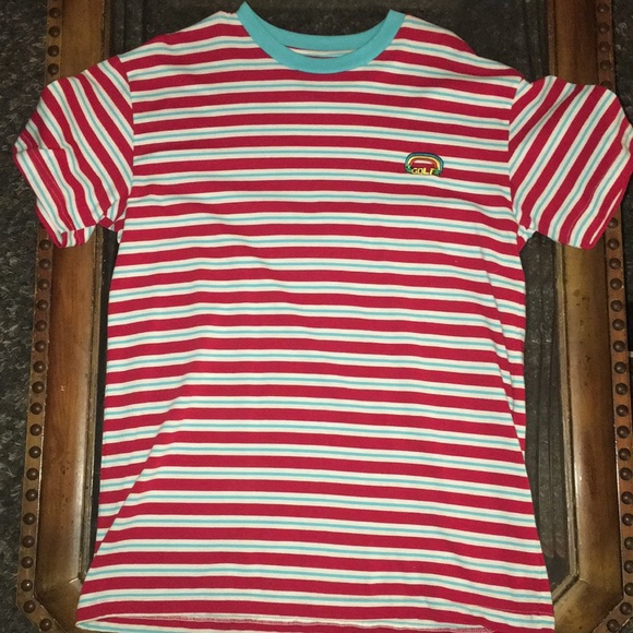 88626ee2c07f GOLF WANG striped shirt red white blue rainbow. M 5be8a27495199601b4b153eb